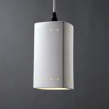 Justice Design CER-6215-BIS-WTCD Radiance Rectangle Mini Pendant With Perforations