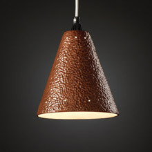 Justice Design CER-6225-HMCP-WTCD Radiance Cone Mini Pendant With Perforations