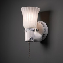 Justice Design CER-7131-ABL-GWST-NCKL American Classics Vintage Round Uplight Shade Wall Sconce