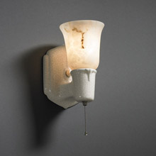 Justice Design CER-7151-CRK-FALA-NCKL American Classics Chateau Uplight Shade Wall Sconce