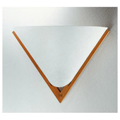 Contemporary Domus Iris Beech Wall Sconce - Justice Design DOM-8310