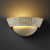 Traditional Ambiance Small Cyma Wall Sconce With Egg And Dart - Justice Design CER-1025-PATA