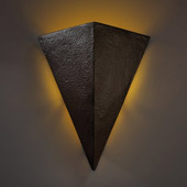 Contemporary Ambiance Really Big Triangle Wall Sconce - Justice Design CER-1140-HMIR