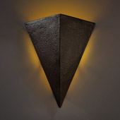 Contemporary Ambiance Really Big Triangle Outdoor Wall Sconce - Justice Design CER-1140W-HMIR