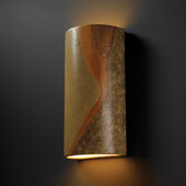 Ambiance Really Big Cylinder Wall Sconce - Justice Design CER-1165-SLHY