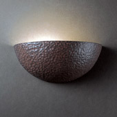 Ambiance Small Quarter Sphere Wall Sconce - Justice Design CER-1300-HMIR