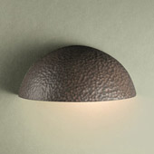 Ambiance Small Quarter Sphere Outdoor Wall Sconce - Justice Design CER-1300W-HMIR