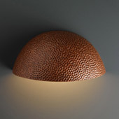 Ambiance Large Quarter Sphere Outdoor Wall Sconce - Justice Design CER-1355W-HMCP