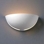 Contemporary Ambiance Small Cosmos Wall Sconce - Justice Design CER-1375-WHT