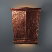Traditional Ambiance Really Big Americana Outdoor Wall Sconce - Justice Design CER-1415W-HMCP