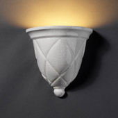 Traditional Ambiance Milano Wall Sconce - Justice Design CER-1480-CRK