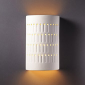 Ambiance Small Cactus Cylinder Wall Sconce - Justice Design CER-2285-BIS