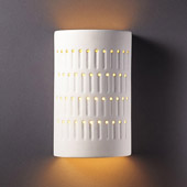 Ambiance Small Cactus Cylinder Outdoor Wall Sconce - Justice Design CER-2285W-BIS