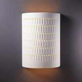 Ambiance Large Cactus Cylinder Outdoor Wall Sconce - Justice Design CER-2295W-BIS