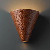 Contemporary Ambiance Cut Cone Wall Sconce - Justice Design CER-2410-HMCP