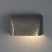 Ambiance Small Scoop Outdoor Wall Sconce - Justice Design CER-2900W-HMBR