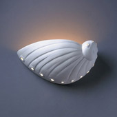 Ambiance Abalone Shell Wall Sconce - Justice Design CER-3720-BIS