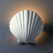 Ambiance ADA Scallop Shell Wall Sconce - Justice Design CER-3730-BIS
