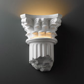 Traditional Ambiance Corinthian Column Wall Sconce - Justice Design Group CER-4700-BIS