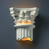 Traditional Ambiance Corinthian Column Wall Sconce - Justice Design Group CER-4705
