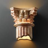 Traditional Ambiance Corinthian Column Wall Sconce - Justice Design CER-4705-STOA