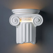 Traditional Ambiance Ionic Column Wall Sconce - Justice Design Group CER-4715
