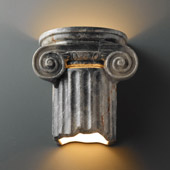 Traditional Ambiance Ionic Column Wall Sconce - Justice Design CER-4715-STOS