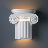 Traditional Ambiance Ionic Column Outdoor Wall Sconce - Justice Design CER-4715W-BIS