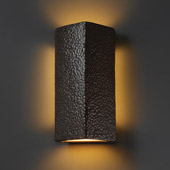 Ambiance ADA Peaked Rectangle Wall Sconce - Justice Design CER-5145-HMIR