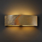Contemporary Ambiance ADA Arc Wall Sconce - Justice Design CER-5205-SLHY