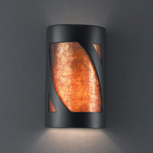 Ambiance Large ADA Lantern Wall Sconce - Justice Design CER-5335-CRB-MICA
