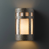 Craftsman/Mission Ambiance Small ADA Prairie Window Wall Sconce - Justice Design CER-5345-HMBR