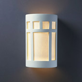 Craftsman/Mission Ambiance Large ADA Prairie Window Wall Sconce - Justice Design CER-5355-BIS