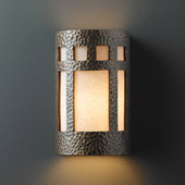 Craftsman/Mission Ambiance Large ADA Prairie Window Wall Sconce - Justice Design CER-5355-HMBR