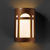 Craftsman/Mission Ambiance Small ADA Arch Window Wall Sconce - Justice Design CER-5385-ANTC