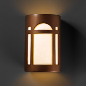 Craftsman/Mission Ambiance Large ADA Arch Window Wall Sconce - Justice Design CER-5395-ANTC