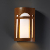 Craftsman/Mission Ambiance Large ADA Arch Window Wall Sconce - Justice Design CER-5395-PATR
