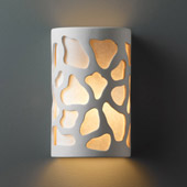 Casual Ambiance Small ADA Cobblestones Wall Sconce - Justice Design CER-5445-BIS