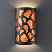 Casual Ambiance Small ADA Cobblestones Wall Sconce - Justice Design CER-5445-CRB-MICA