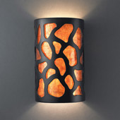 Casual Ambiance Large ADA Cobblestones Wall Sconce - Justice Design CER-5455-CRB-MICA