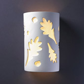 Casual Ambiance Small ADA Oak Leaves Wall Sconce - Justice Design CER-5465-BIS