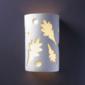 Casual Ambiance Large ADA Oak Leaves Wall Sconce - Justice Design CER-5475-BIS
