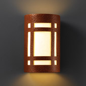 Craftsman/Mission Ambiance Small ADA Craftsman Window Wall Sconce - Justice Design CER-5485-HMCP