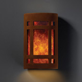 Craftsman/Mission Ambiance Small ADA Craftsman Window Wall Sconce - Justice Design CER-5485-RRST-MICA