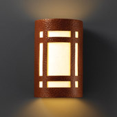 Craftsman/Mission Ambiance Large ADA Craftsman Window Wall Sconce - Justice Design CER-5495-HMCP