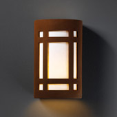 Craftsman/Mission Ambiance Large ADA Craftsman Window Wall Sconce - Justice Design CER-5495-RRST