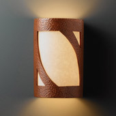 Transitional Ambiance Small Lantern Wall Sconce - Justice Design CER-7325-HMCP