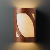 Transitional Ambiance Small Lantern Outdoor Wall Sconce - Justice Design CER-7325W-HMCP