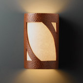 Transitional Ambiance Large Lantern Wall Sconce - Justice Design CER-7335-HMCP
