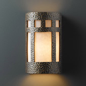 Craftsman/Mission Ambiance Small Prairie Window Wall Sconce - Justice Design CER-7345-HMBR